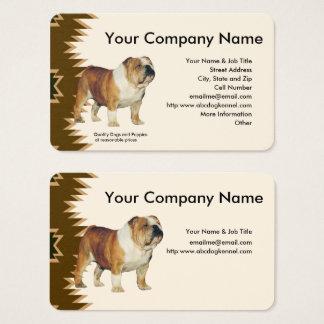 Bulldog, Brown design on tan Business Card