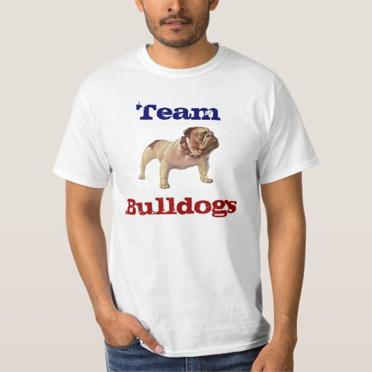 BULLDOG, Bulldogs, Sports Mascot Teams tee-shirts T-Shirt