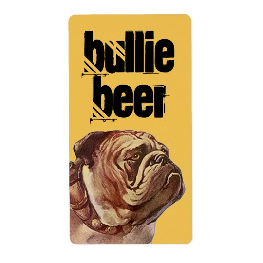 Bulldog Bullie Beer Homebrew Bull Dog Custom Label Shipping Label