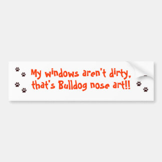 Bulldog Bumper Sticker