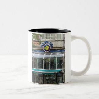 Bulldog Cafe Amsterdam Mug-Let's Get Coffee! Two-Tone Coffee Mug