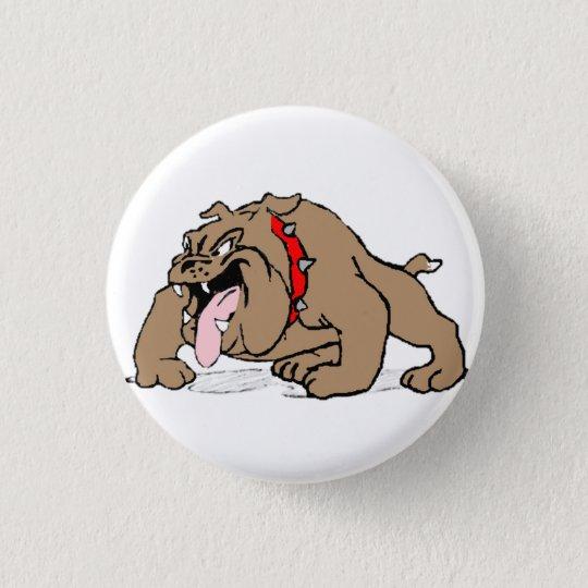 Bulldog Cartoon Art 3 Cm Round Badge