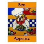 Bulldog Chef Greeting Card