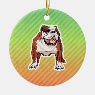 Bulldog Christmas Ornament