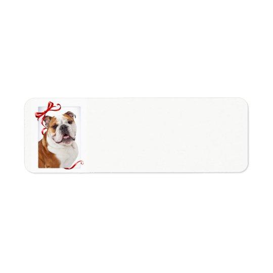 Bulldog Christmas Return Address Labels
