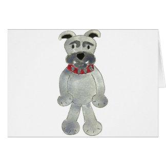 Bulldog Critter Greeting Card