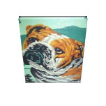 bulldog custom print paint by numbers canvas prints