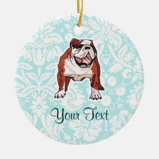 Bulldog; Cute Christmas Ornament