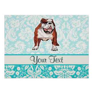 Bulldog; Cute Poster