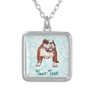 Bulldog; Cute Silver Plated Necklace