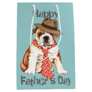 Bulldog Dad Medium Gift Bag