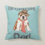 Bulldog Dad Throw Pillow