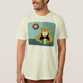 Bulldog Dartboard Beer Bar Shirts