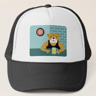 Bulldog Dartboard Beer Bar Trucker Hat
