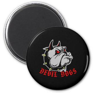Bulldog Devil Dogs Black Refrigerator Magnet