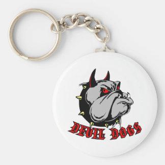 Bulldog Devil Dogs Key Ring