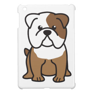 Bulldog Dog Cartoon iPad Mini Cases
