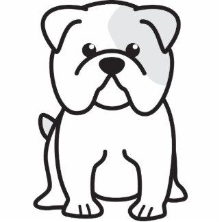 Bulldog Dog Cartoon Standing Photo Sculpture