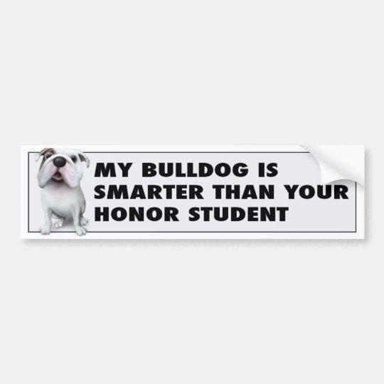 Bulldog (English) Honour BULLD1 Bumper Sticker