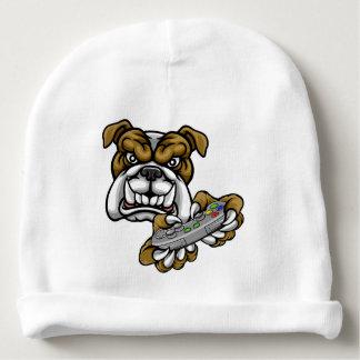 Bulldog Esports Gamer Mascot Baby Beanie