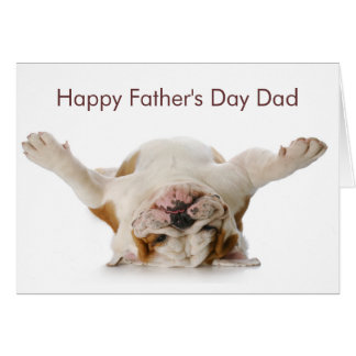 Bulldog Father's Day Card