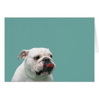 Bulldog funny face custom blank note card