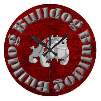 BULLDOG GRAY CARTOON CLOCK