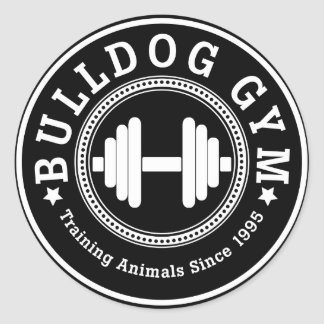 Bulldog Gym Dumbbell Sticker