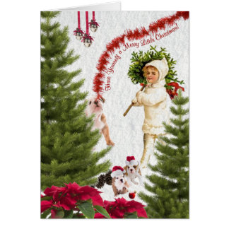 Bulldog Have Yourself a Merry Little Chrismas Greeting Cards