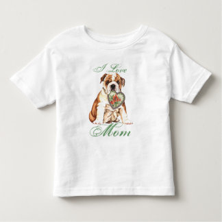 Bulldog Heart Mom T Shirts