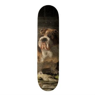 Bulldog in a Doorway Skate Board Deck