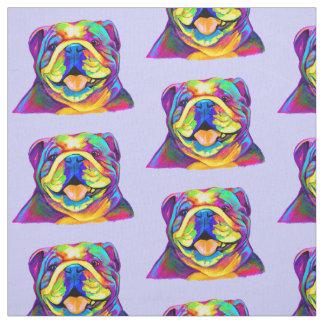 Bulldog in Colors Fabric