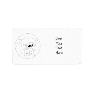 Bulldog Label Template Address Label