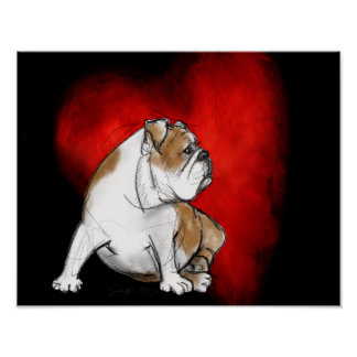 Bulldog Love Poster