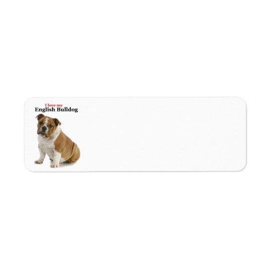 Bulldog Love Return Address Labels