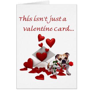 Bulldog Maddie Rose and Hearts Valentine Greeting Card