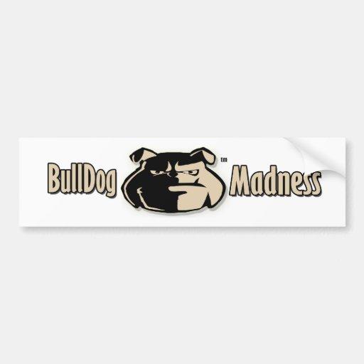 Bulldog Madness Signature logo Bumper Sticker
