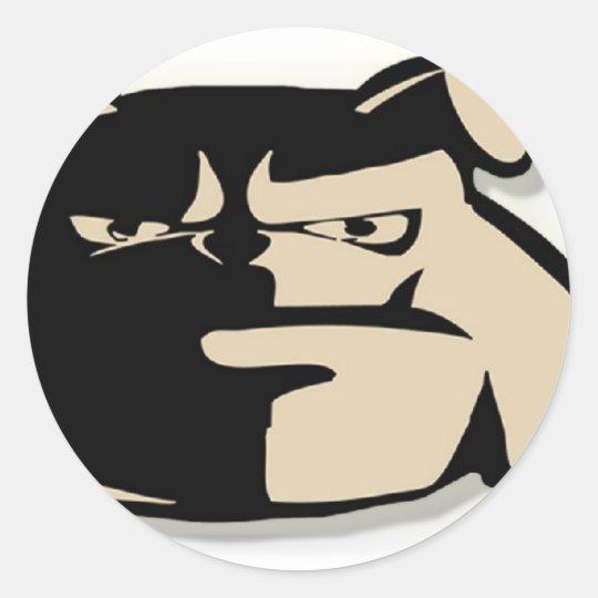 Bulldog Madness Signature logo Classic Round Sticker