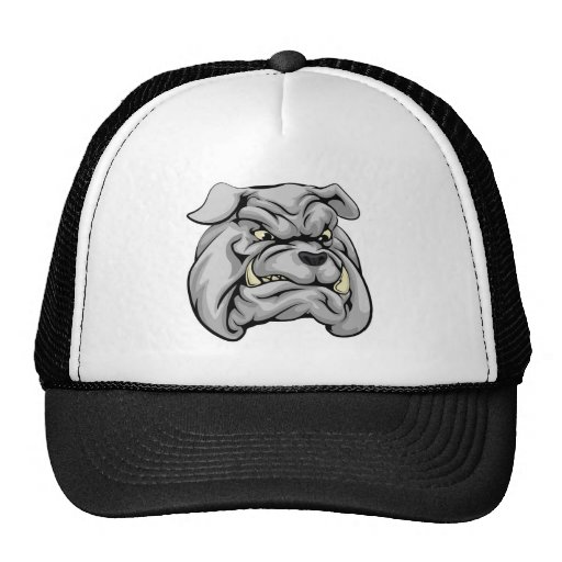 Bulldog mascot character hats