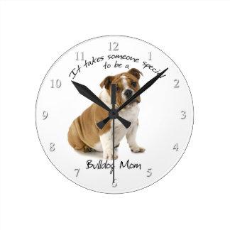 Bulldog Mom Clock