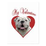 Bulldog My Valentine Postcard