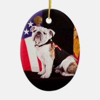 Bulldog Navy Official Mascot Dog Christmas Ornament