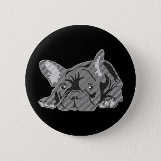 Bulldog of Lines 6 Cm Round Badge