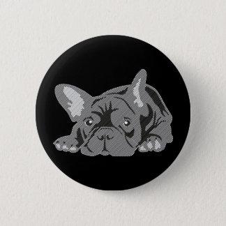 Bulldog of Lines 6 Cm Round Badge