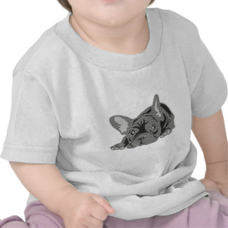 Bulldog of Lines T Shirt
