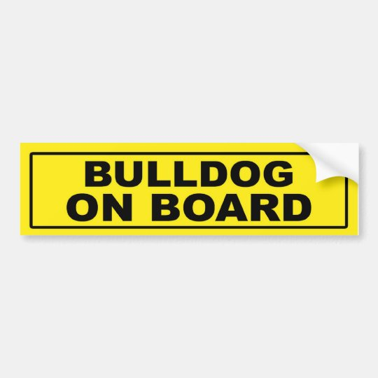 Bulldog on Board Bumper Sticker