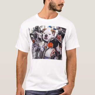 Bulldog on Motorcycle T-Shirt