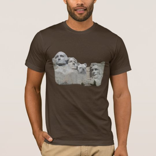 Bulldog on Mount Rushmore T-Shirt