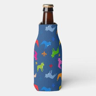 Bulldog Pattern Bottle Cooler