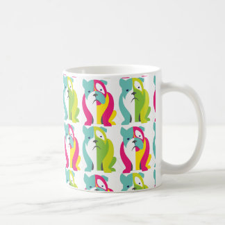 Bulldog pattern mug